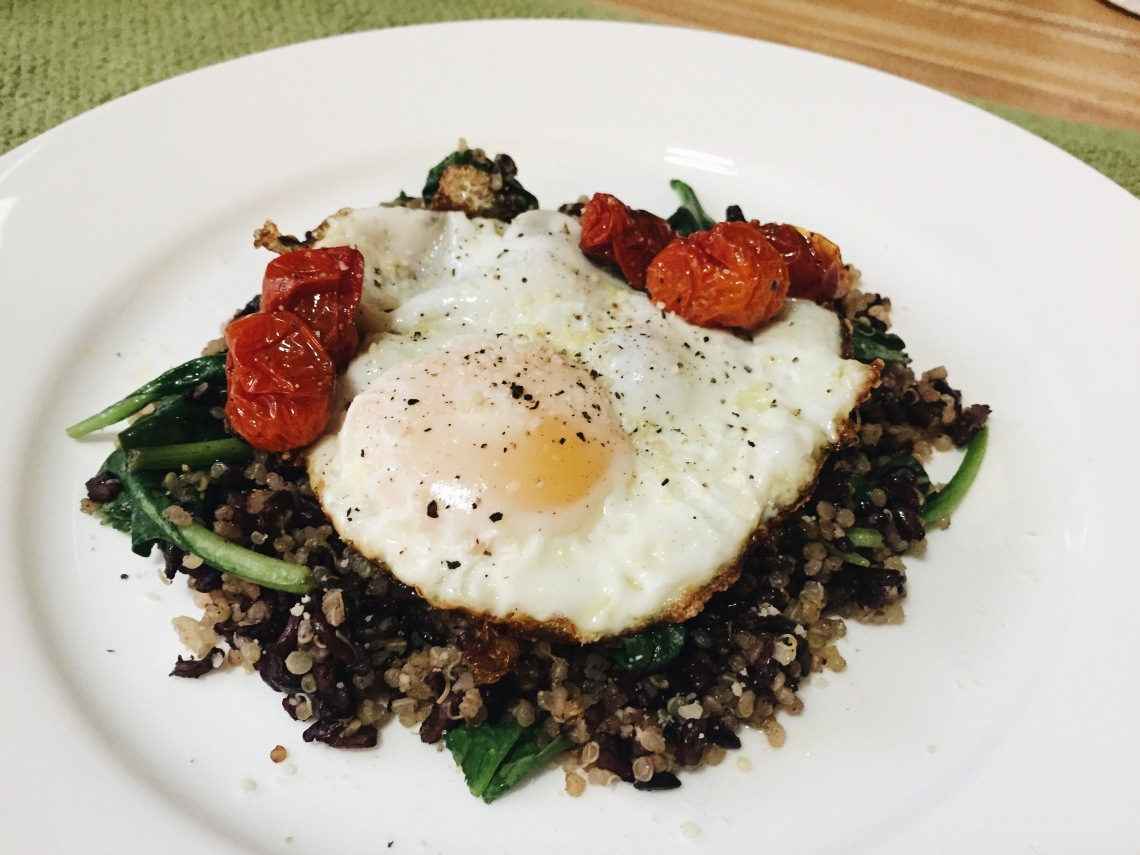 quinoa spinach eggs
