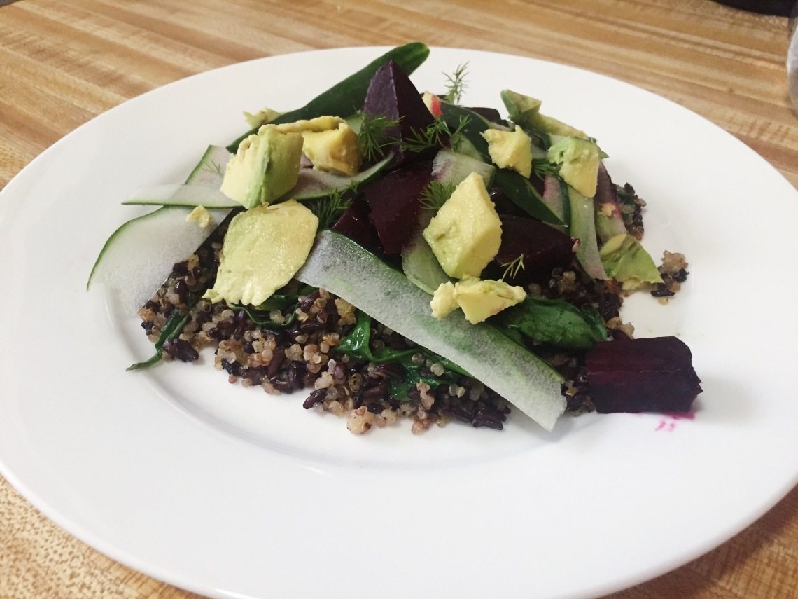quinoa beet avocado